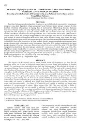 CropAgro, Vol 1 No 2 – Juli 2008 130 SKRINING Streptomyces sp ...