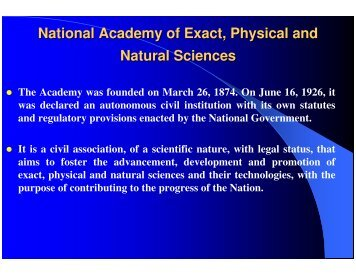 National Academy of Exact, Physical and Natural Sciences - ianas