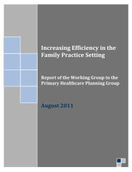 Increasing Efficiency in the Primary Care Setting - Trillium Research ...