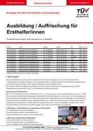 Infofolder - TÜV Austria Akademie