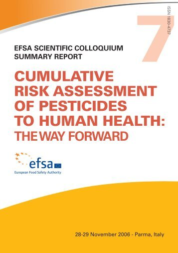 Cumulative Risk Assessment of pesticides to human health: The Way