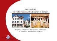 Ihre Hochzeit im Hotel-Restaurant Schwanen in Köngen