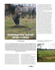 artikel in het VAkblad Natuur Bos Landschap