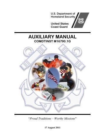 AUXILIARY MANUAL - U.S. Coast Guard