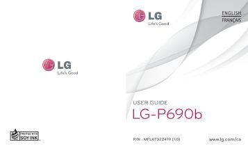 Lg-P690b - Cellular/Cell Phones