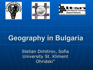 Geography in Bulgaria - HERODOT Network for Geography in ...