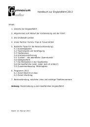 Handbuch zur Englandfahrt 2013 1 - Gymnasium Lindlar