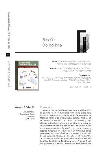 Reseña Bibliográfica - Escuela de Salud Pública - Universidad ...