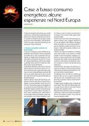 Case a basso consumo energetico: alcune esperienze nel Nord ...