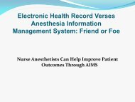 AIMS - California Association of Nurse Anesthetists
