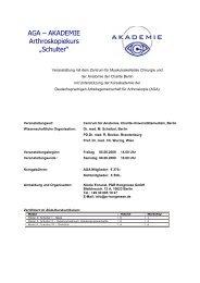 AGA Akademie Programm Schulter Juni 09 - Congress Compact 2C ...