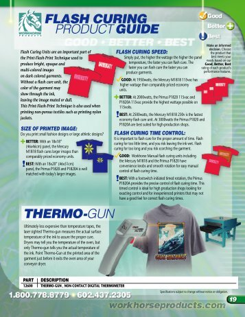 flash curing productguide thermo-gun - Workhorse Products