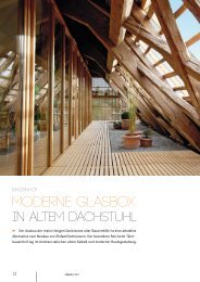 Moderne Glasbox in altem Dachstuhl - lehmann_holz_bauten