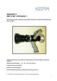 AQUAJET II DIN 14 367 (PVR 08/02 *) - ZR Armaturen GmbH