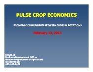 PULSE CROP ECONOMICS - Montana Department of Agriculture