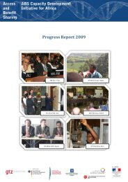 Progress Report 2009 - ABS Capacity Development Initiative :: Home