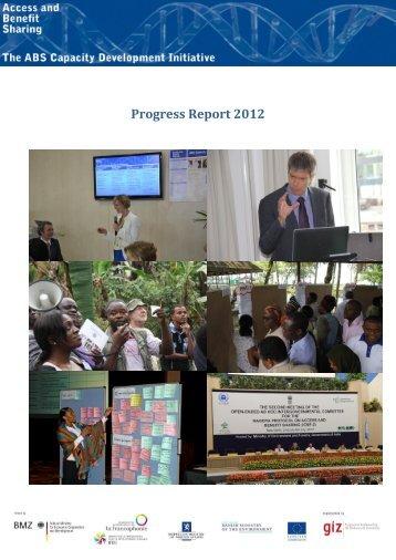 Progress Report 2012 - ABS Capacity Development Initiative