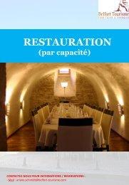 Restauration (par capacité décroissante) - Belfort Tourisme