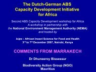 The Dutch-German ABS Capacity Development Initiative for Africa ...