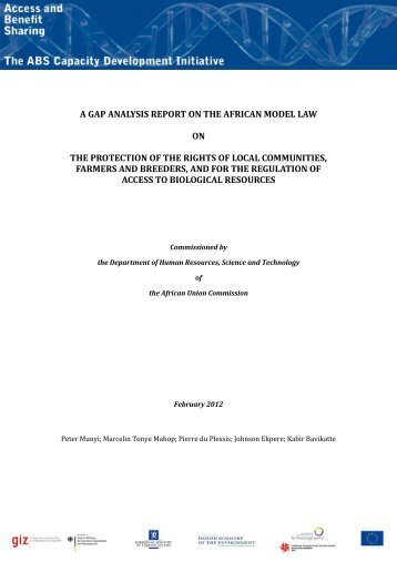 a gap analysis report on the african model law on the protection of ...