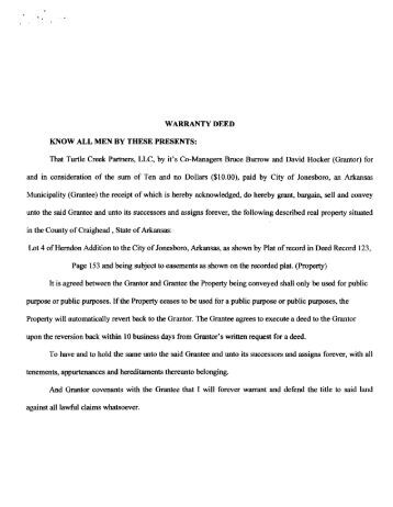 Warranty Deed - Walton County Clerk Of Court