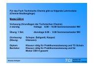 TC1 - Bachelor Chemie 4. Semester - Mai 2010 - PDF - TCI @ Uni ...
