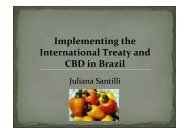 Implementing the International Treaty and CBD in Brazil