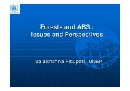 Forests and ABS - ABS Capacity Development Initiative