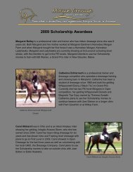 2009 Scholarship Awardees - Morgan Dressage Association