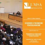 Scienze e Tecniche Psicologiche A.A. 2012-2013 - Lumsa