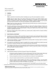 Standard Conditions of Sale - Bridon
