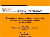african regional preparatory meeting - ABS Capacity Development ...