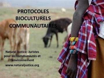 BIOCULTURAL COMMUNITY PROTOCOLS