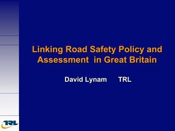 Experiences with road safety measures and their assessment in the ...