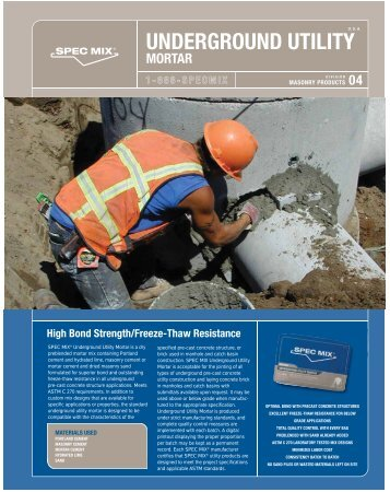 underground utility mortar - Asdco