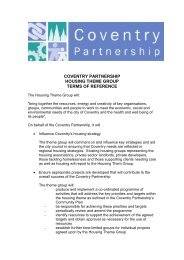 Housing Terms of Reference - Coventry Partnership