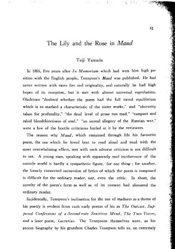 The Lily and the Rose In Maud