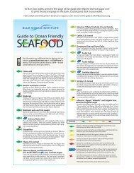 Seafood Guide - Blue Ocean Institute