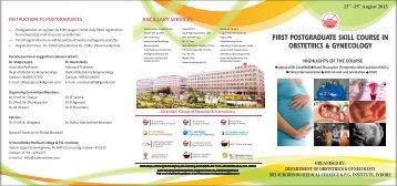 cme brochure design - Sri Aurobindo Institute of Medical Sciences