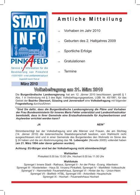 Sdburgenland/Klagenfurt - In Pinkafeld auf der Suche nach