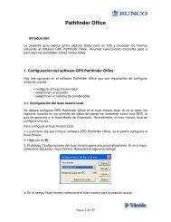 Guía Trimble Pathfinder Office - Runco