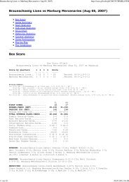 Braunschweig Lions vs Marburg Mercenaries ... - NewYorker Lions