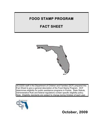 Food Stamp Program Fact Sheet