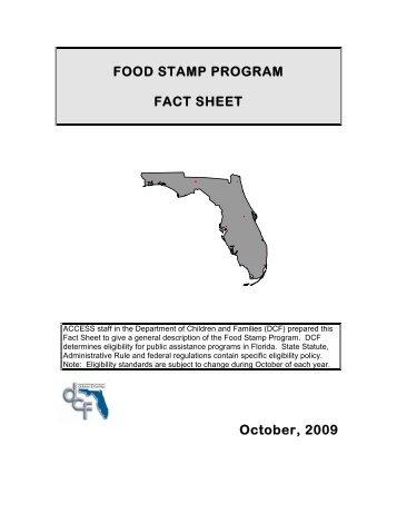 Food Stamp Program Fact Sheet