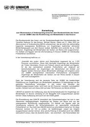 Anmerkung zur Rückführung von Minderheiten in das ... - UNHCR