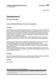 Gesetzentwurf - Die Linke NRW