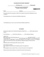 fee mediation settlement agreement - Contra Costa County Bar ...