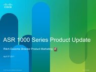 ASR 1000 Series Product Update - Cisco Knowledge Network