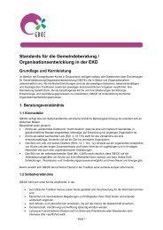 Standards für Gemeindeberatung in der EKD - Evangelische Kirche ...