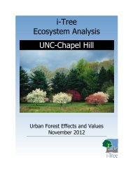 i-Tree Ecoreport - Institute for the Environment at UNC